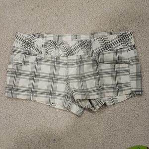 Grey and white striped/plaid Shorts